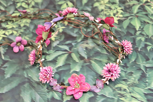 Hot Pink Faerie head crown