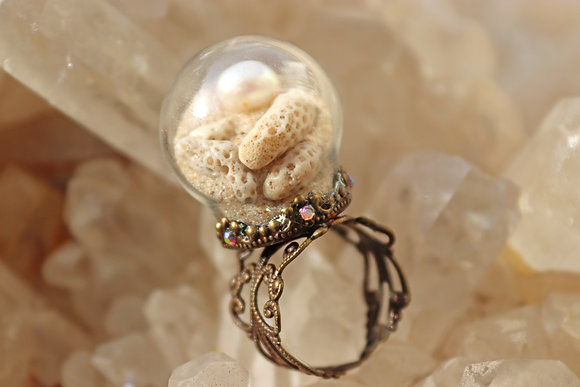 Mermaid's Coral Ring