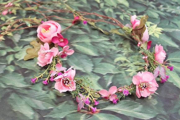 Pink Faerie head crown