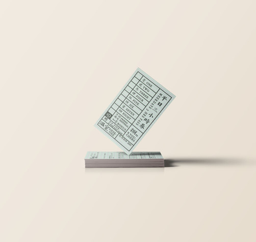 Desk-one Discount Card Design