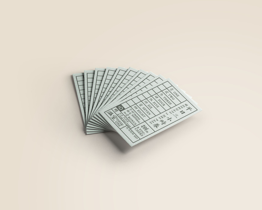 Desk-one Discount Card Design