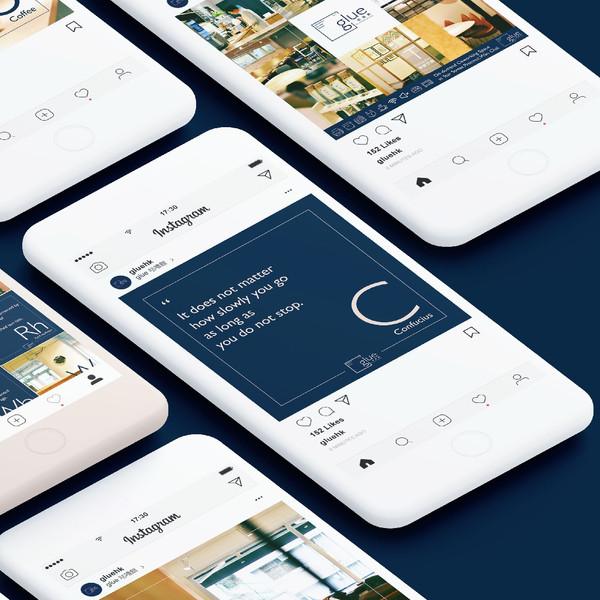 Glue Social Media Design