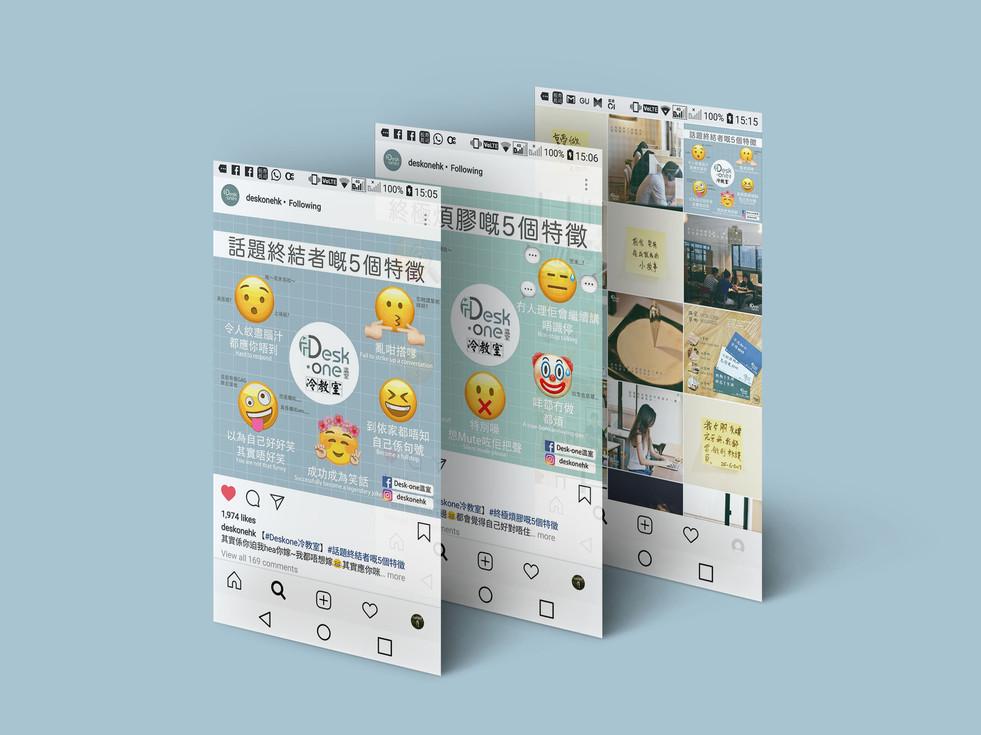 Desk-one Social Media Design