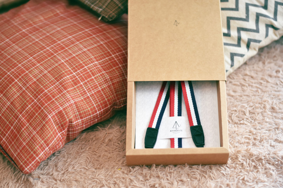 Aphrodite Camera Strap Package Design