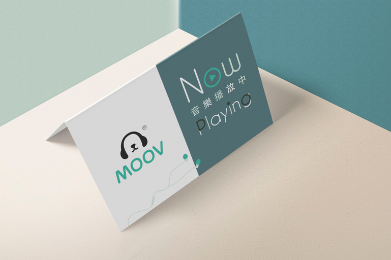 Desk-one X MOOV Table Tent Design