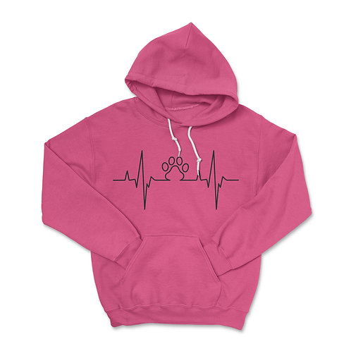 Paw Heartbeat Pullover Hoodie