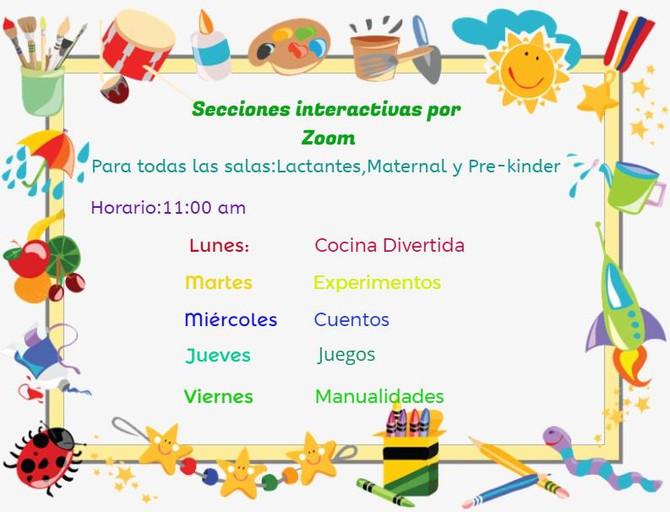 ZOOM: HORARIOS Y ACCESOS VIDEOLLAMADAS (MAYO)