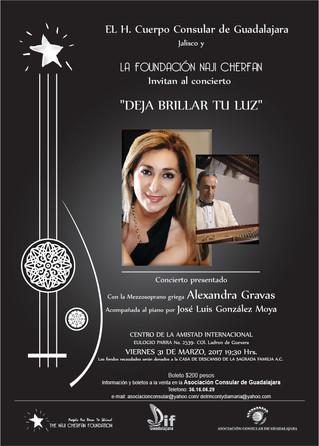 """Concierto """"Deja brillar tu luz"""" de la Mezzo-soprano griega Alexandra Gravas"""