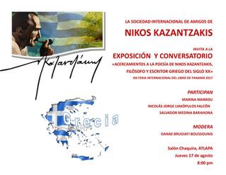 Invitación: Acercamientos a la Poesía de Nikos Kazanzakis