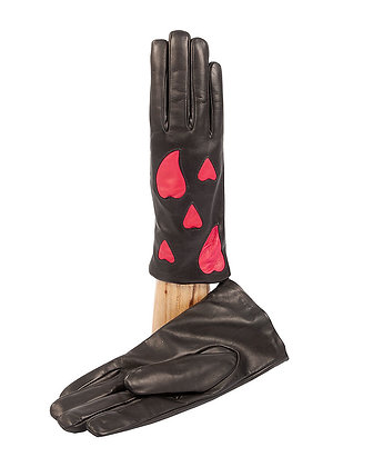 Caridei Gloves - Italian Lambskin with Hearts
