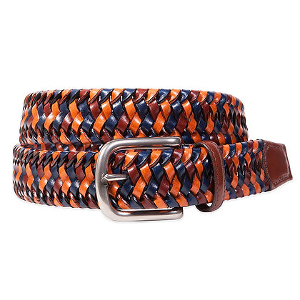 Torino - Navy Multi Stretch Woven Leather
