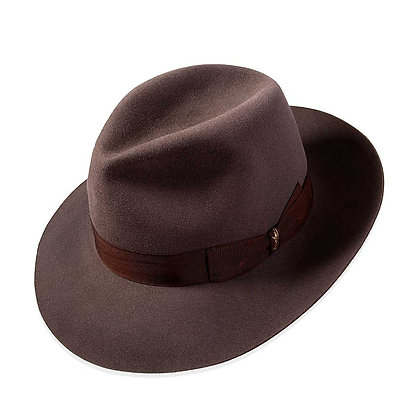 Borsalino - Wide Brim Traveler with Ribbon Trim