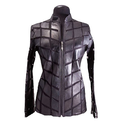 Oxan - Lambskin 'Diamond' Pattern Jacket