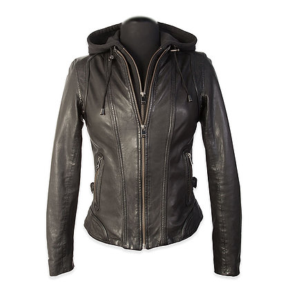 La Marque - The Arlette Women's Moto with Removable Hood