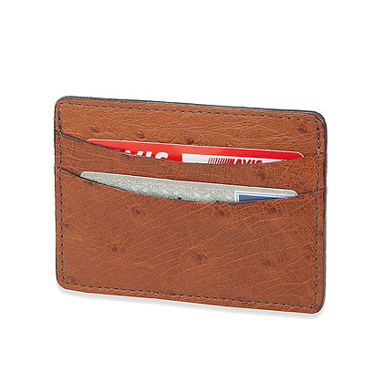 Torino Leather - Saddle Ostrich Cardcase