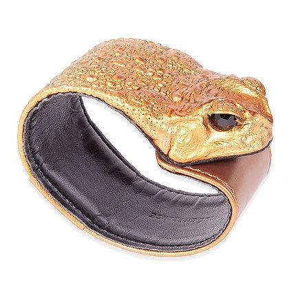 Eco-Fashion Toad Bracelet Bronze
