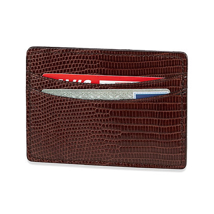 Ringmark Lizard Cognac Flat Wallet