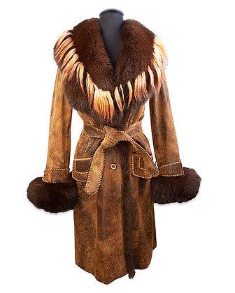 Hand Cut FOX & Capra Lamb Coat