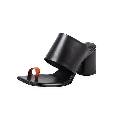 Ernesto Dolini - 'Murano' Orange Toe Loop Chunk Heel