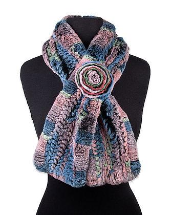Chosen Furs - The Rose- Knit Rex Fur Scarf