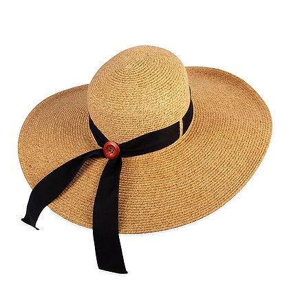 Wide Brim Sun Hat with Button Back