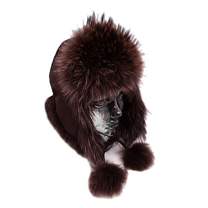 Belle Fare - Raccoon Trapper Hat