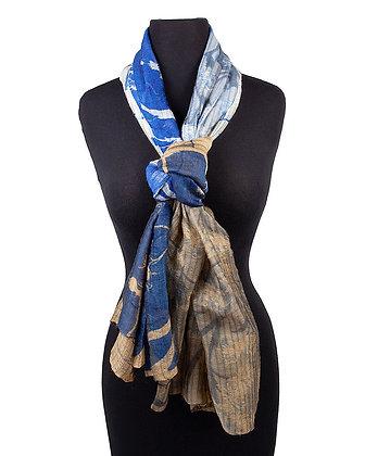 Atoll Palme - Silk and Wool Scarf