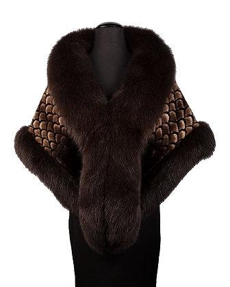 Chosen Fur - Printed Mink with Fox Trim