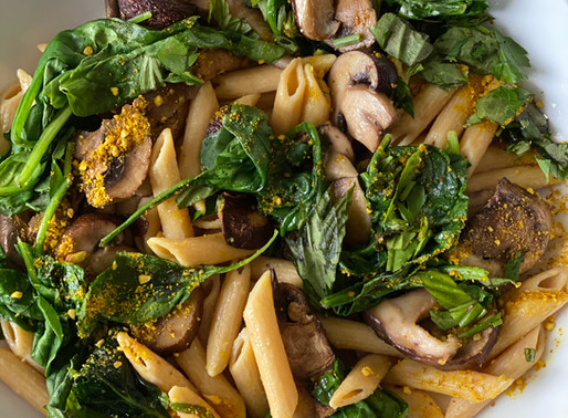 Wild Mushroom and Truffle Pasta with Dove Hunt Dog Pinot Noir