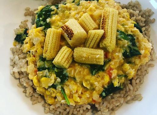 20-minute creamy corn curry.