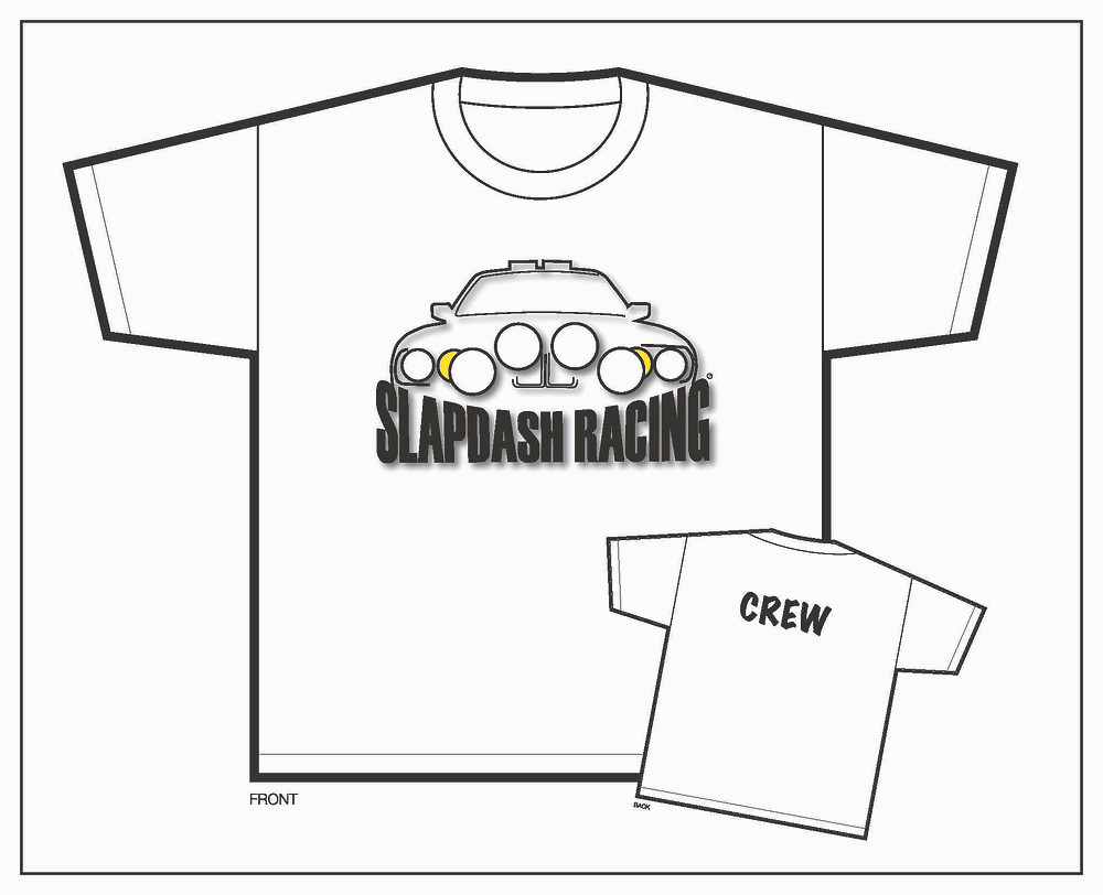 Slapdash Racing t-shirts for sale for fundraising