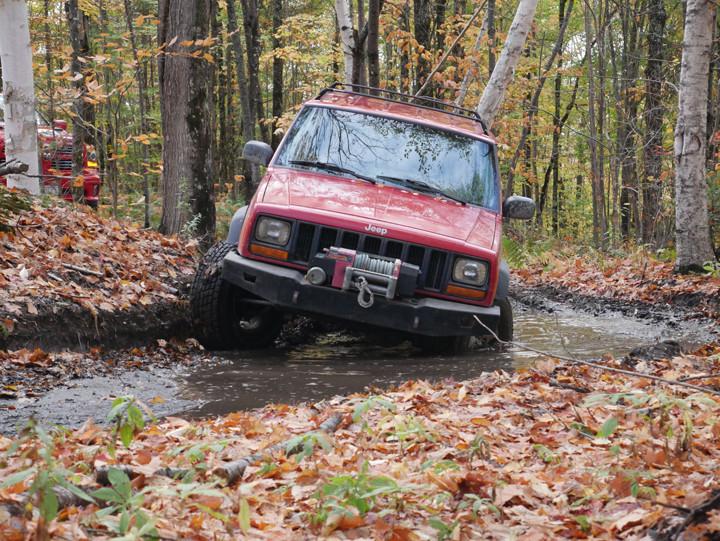Jeep tilting.