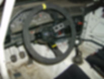 A photo of my borrowed steering wheel.