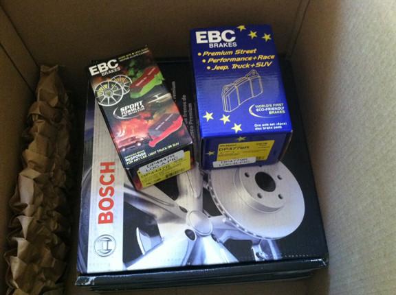 EBC Yellow Stuff brake pads and Bosch rotors
