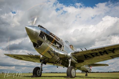 P-40C Engine Run