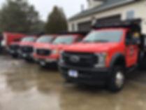 Carrolls landscape design & build trucks, equiptment