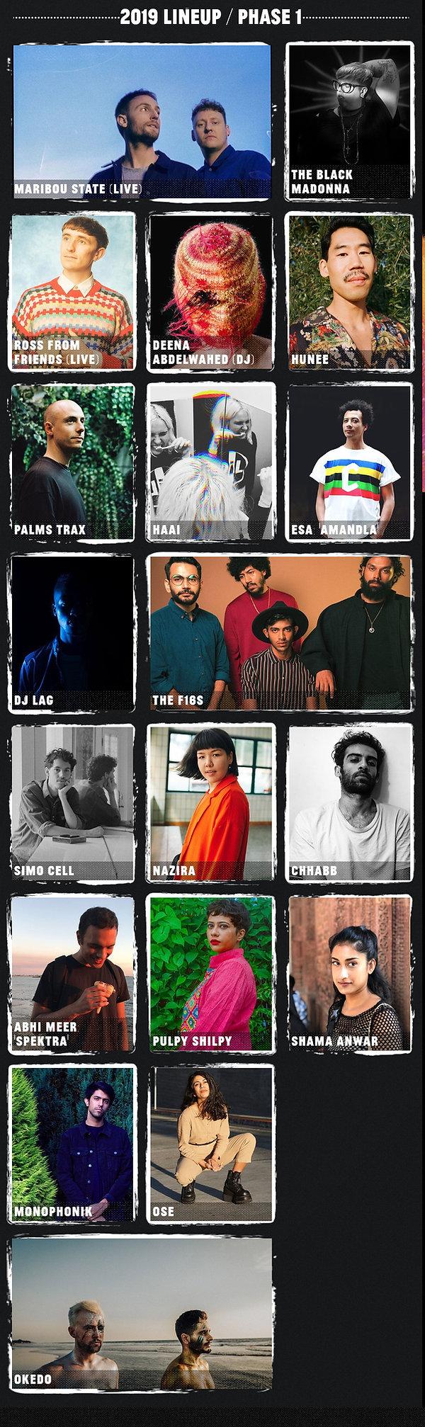 Artists - Magnetic Fields Festival 2019.