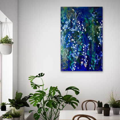Sapphire Ferns, 2017 (sold) Private Collection