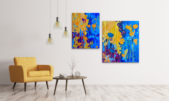 Finally Spring I, II 2019 (sold) Private Collections