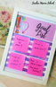 FREEBIE! Goals List Sticky Notes' Board