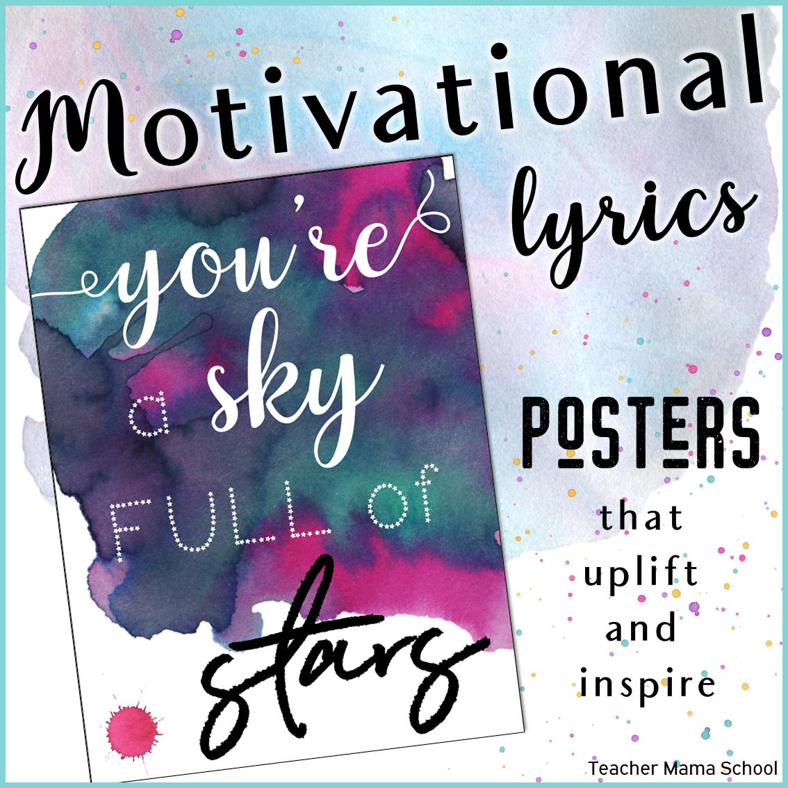 Motivational Lyrics Quotes Posters