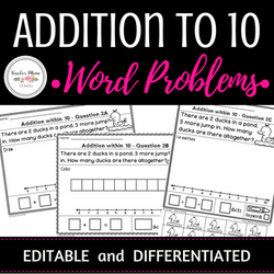 Addition Within 10 Word Problems