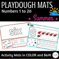 Summer Math Center : Playdough Mats