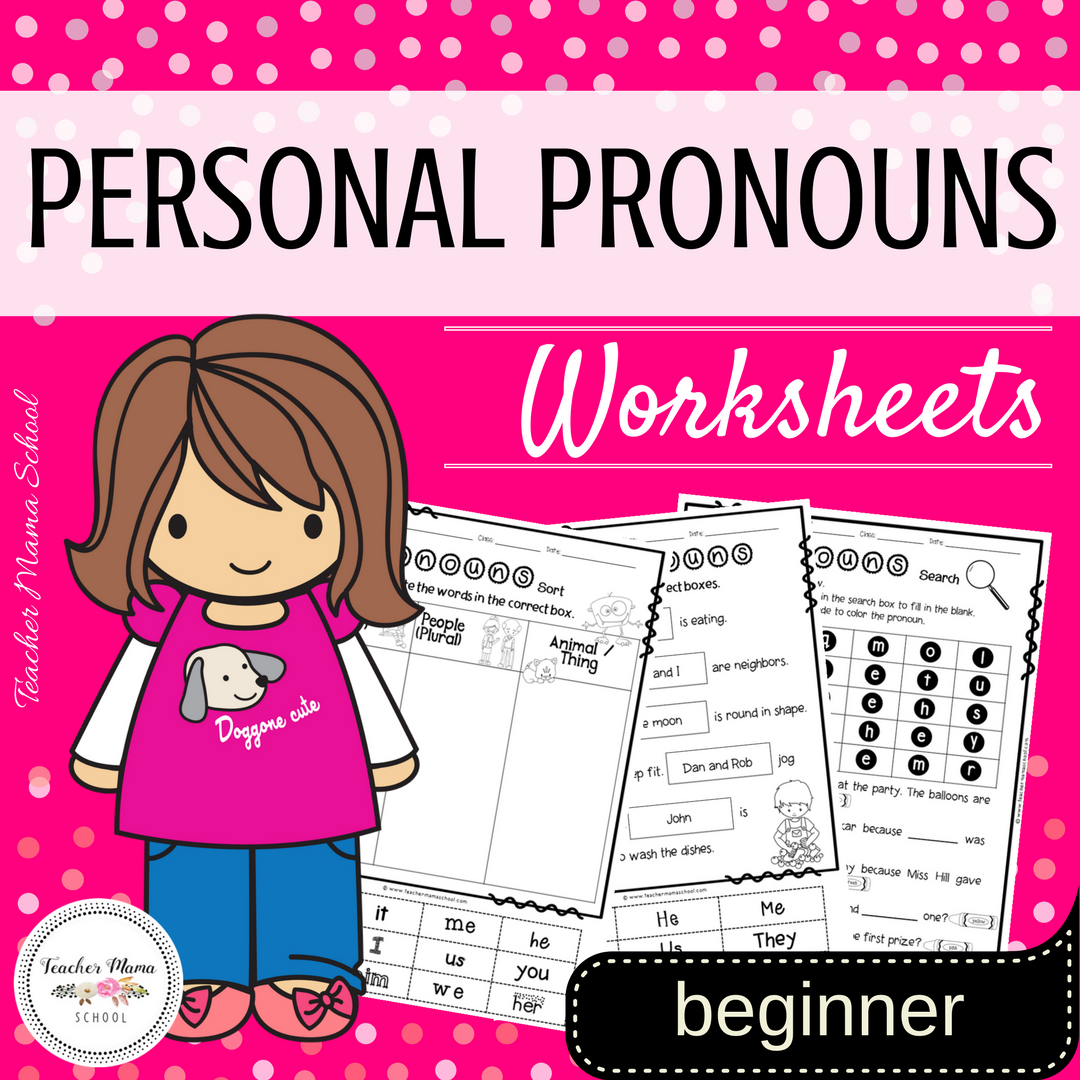 Personal Pronouns Worksheets