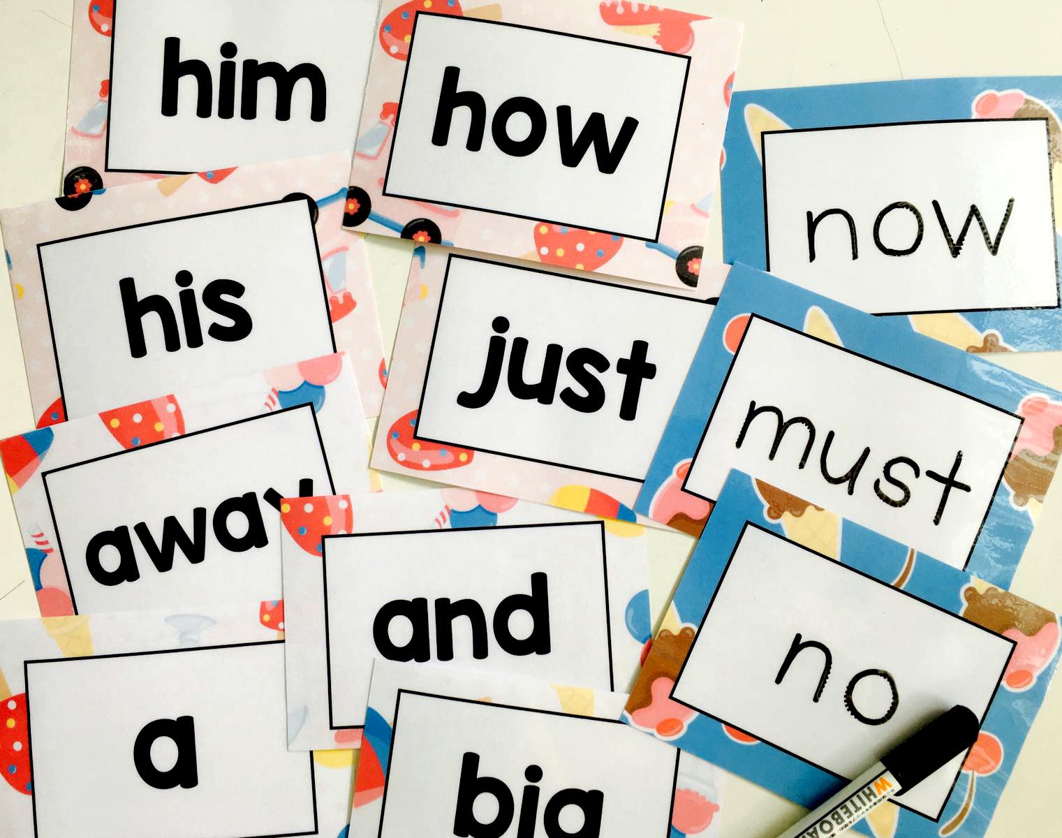 Sight Words Practice Kit - Flash Car
