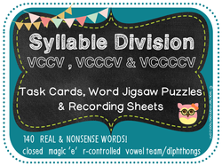 Syllable Division Task Cards