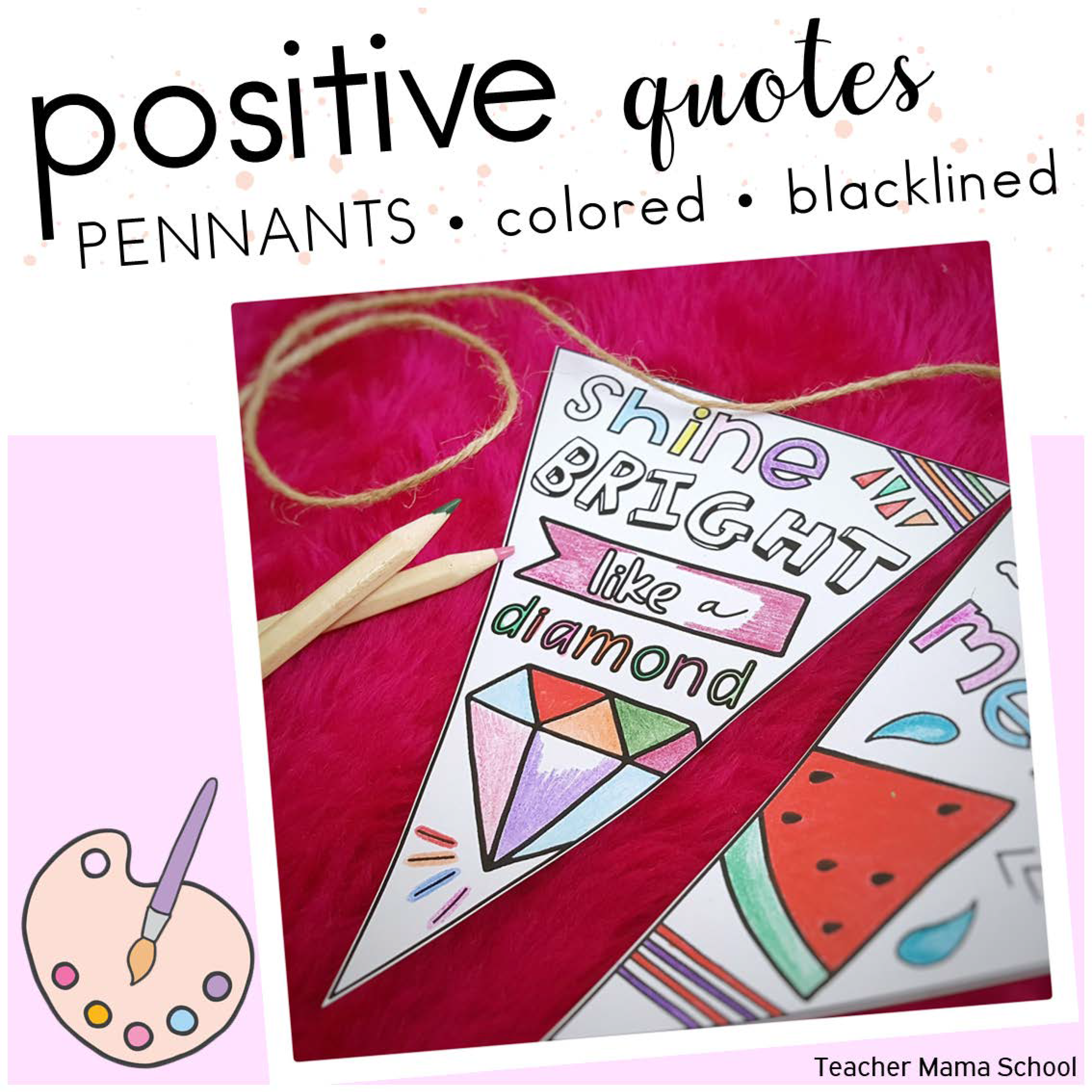 Quotes Coloring Pennants Colored Version_Page_01