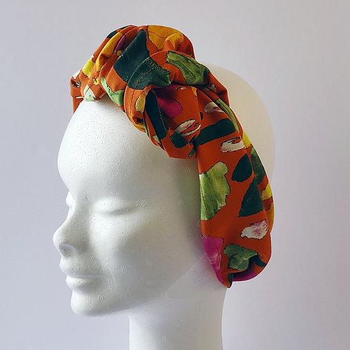 hairband orange flower