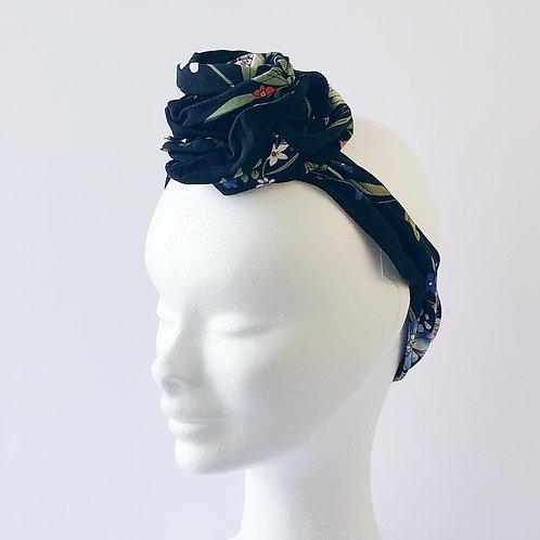 hairband black flower