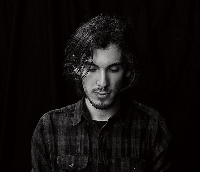 Iván Muela, portrain, black an white